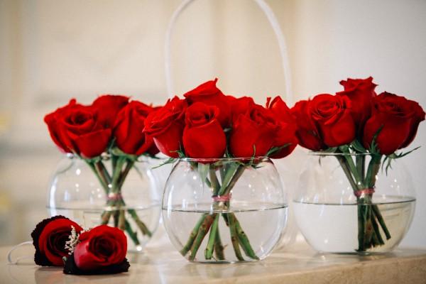 Rose Centerpieces Wedding Flowers Las Vegas Receptions