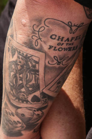 Chapel of the Flowers Logo Tattoo