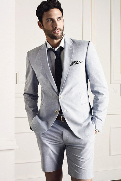 Cool And Casual Groom Summer Wedding Attire For Las Vegas Short Suit Weddings In