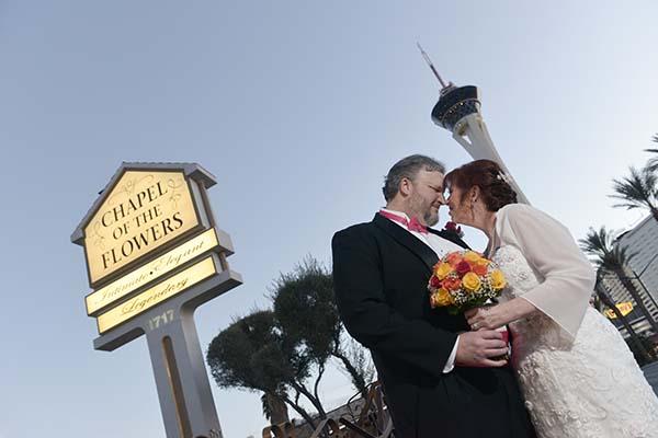 Las Vegas Weddings by Chapel of the Flowers Scott and Jill Love Story