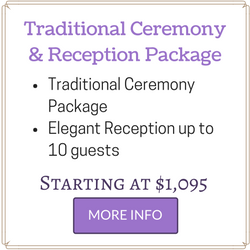 affordable las vegas wedding package includes ceremony and reception