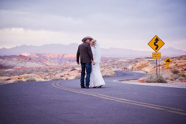 romantic wedding photo at valley of fire outdoor wedding venue afforable vegas weddingsall inclusive