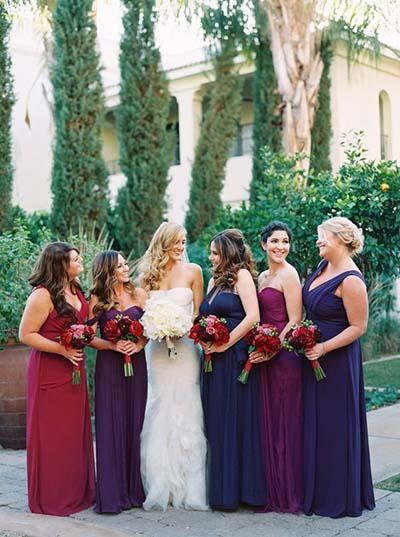 Best 2016 fall wedding trends for Bridesmaid dresses for november weddings