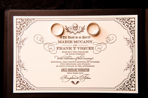 Classy Halloween Wedding Ideas – Elegant Halloween Wedding Invitations
