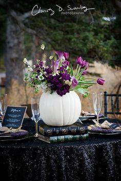 fall wedding centerpiece pumpkin wedding decor - Halloween Wedding Centerpieces