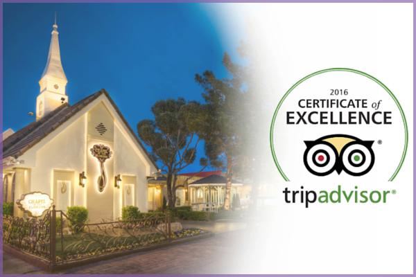TripAdvisor Certificate Of Excellence Award