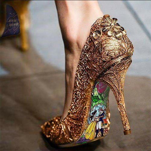 Belle Wedding Shoes | Fairytale Wedding I Beauty And The Beast Wedding Ideas