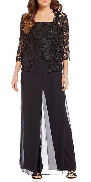 Mother of the Bride Groom Dress Ideas | Black Pant Set