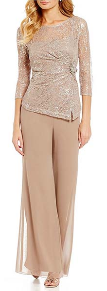 Mother of the Bride Groom Dress Ideas | Nude pANT sET