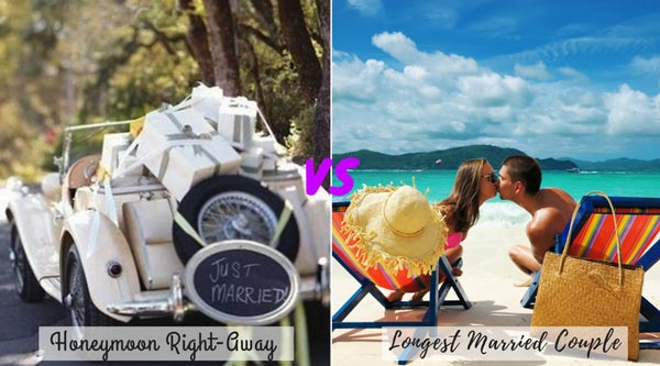 Honeymoon right after wedding vs waiting for Honeymoon | New Wedding Traditions to Replace Old Wedding Traditions
