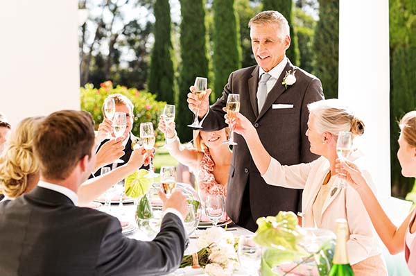 Father Toasting at Wedding | Wedding Ideas | How to Include Dad in Your Wedding