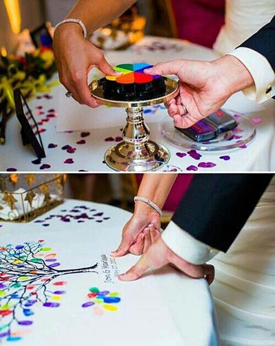 Rainbow Guest Book for Gay Wedding | Same-Sex Wedding in Las Vegas | LGBTQ Wedding Ideas