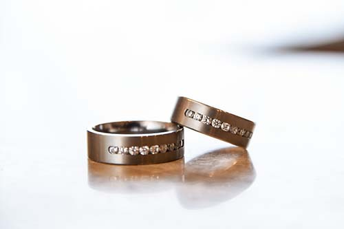 Matching Wedding Rings for LGBTQ Wedding | Same-Sex Wedding in Las Vegas | LGBTQ Wedding Ideas