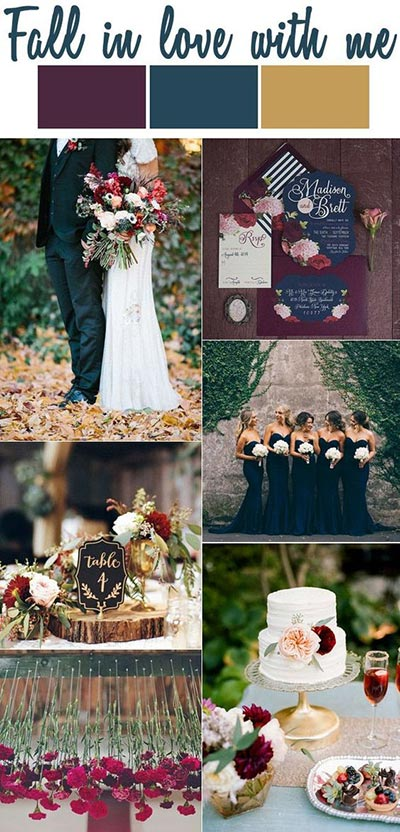 Deep Tones For Fall Wedding Color Scheme