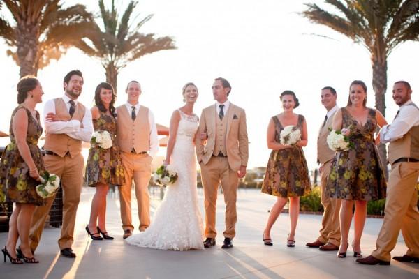 Fall Weddings | Wedding Ideas | Print Bridesmaids Dresses for the Fall