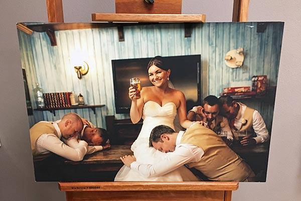 Photo Canvas of Wedding Photo | Wedding Photo Gifts and Keepsake Ideas