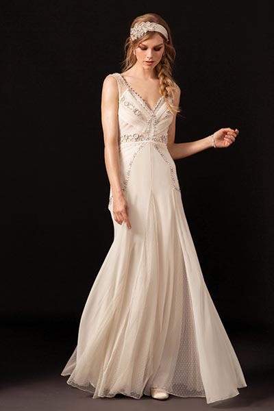 Great Gatsby Wedding Ideas | Roaring 20's Wedding Dress by Temperley London