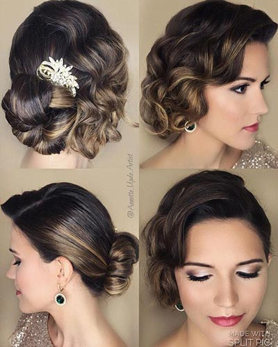 Great Gatsby Wedding Ideas | 1920's Bridal Hairstyles with curls
