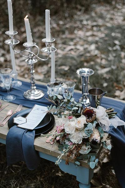 Mixed Metal Accents Wedding Decor Ideas | 2018 Wedding Trends