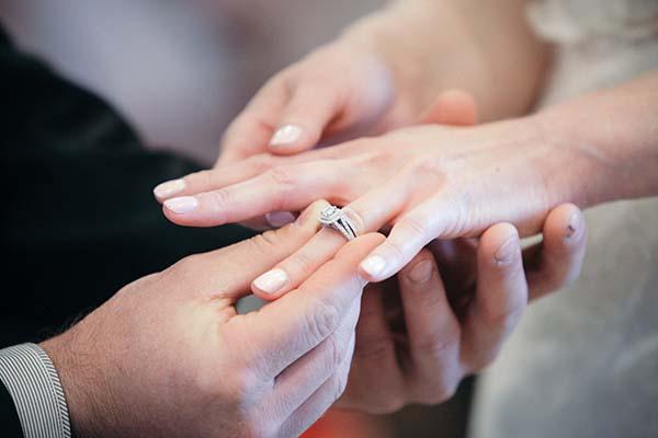 Double Diamond Engagement Ring