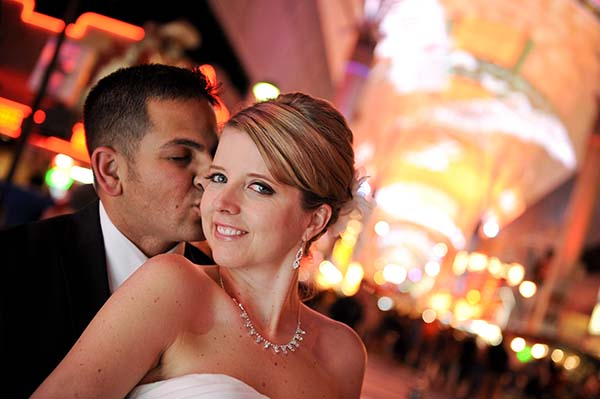 Fremont Street Wedding Photos for Lucky Wedding Dates for 2016