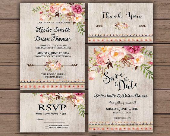 Boho Chic Wedding Invitations: 5 Wedding Tips For Boho Chic Weddings