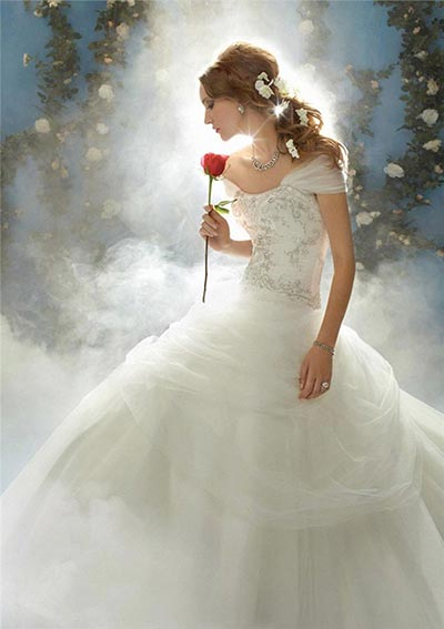beauty and the beast wedding dress | Wedding