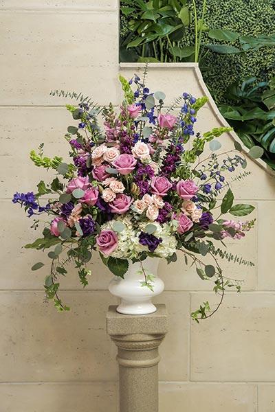 Boho Chic Vintage Wedding Flowers | Wedding Flower Ideas | Jewel Toned Wedding Flowers for Ceremony