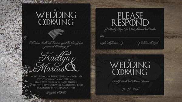 Game of Thrones Wedding Invitation | Game of Thrones Wedding Ideas