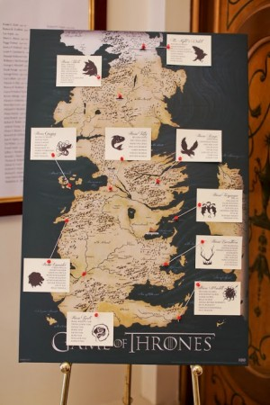 Seven Kingdom Seating Chart | Game of Thrones Wedding Ideas